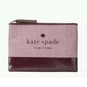Kate Spade Tassel Pouch Ash Street Logo
